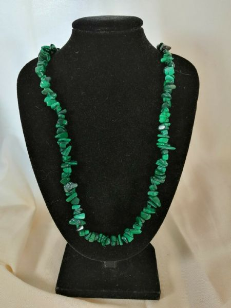 "Malachite Necklace 16"" to 34"", Long Necklace, Short Necklace"